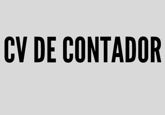 CV CONTADOR